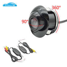 Wireless CCD Car Front View font b Camera b font Double Control Lines Switch To Rear