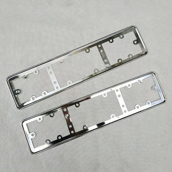 For EU Car License Plate Frame metal Car License Plate Frame Number plate Holder 2pcs 1 pair 52cm x 11cm front and rear eu plate stainless steel eu number license plate bracket frame holder car styling
