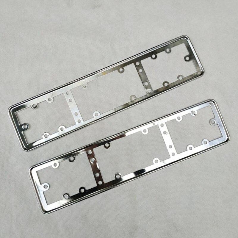 For EU Car License Plate Frame metal Car License Plate Frame Number plate Holder 2pcs