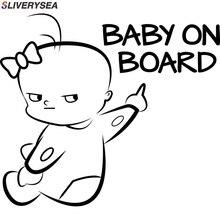 SLIVERYSEA 16*14.1CM BABY ON BOARD Funny Vinyl Car Sticker Warning Sign Decal Car Styling #B1089 sliverysea big sale car styling new baby on board car sticker car vinyl body car decals stickers for bwm honda hyundai skoda