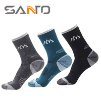 The New SANTO Shan Tuo Men S Sports Wool Socks Half Thick Warm Outdoor Socks And