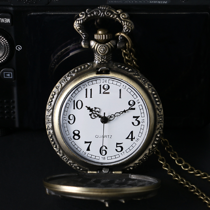 retro pocket watch quartz watch pendant clock (7)