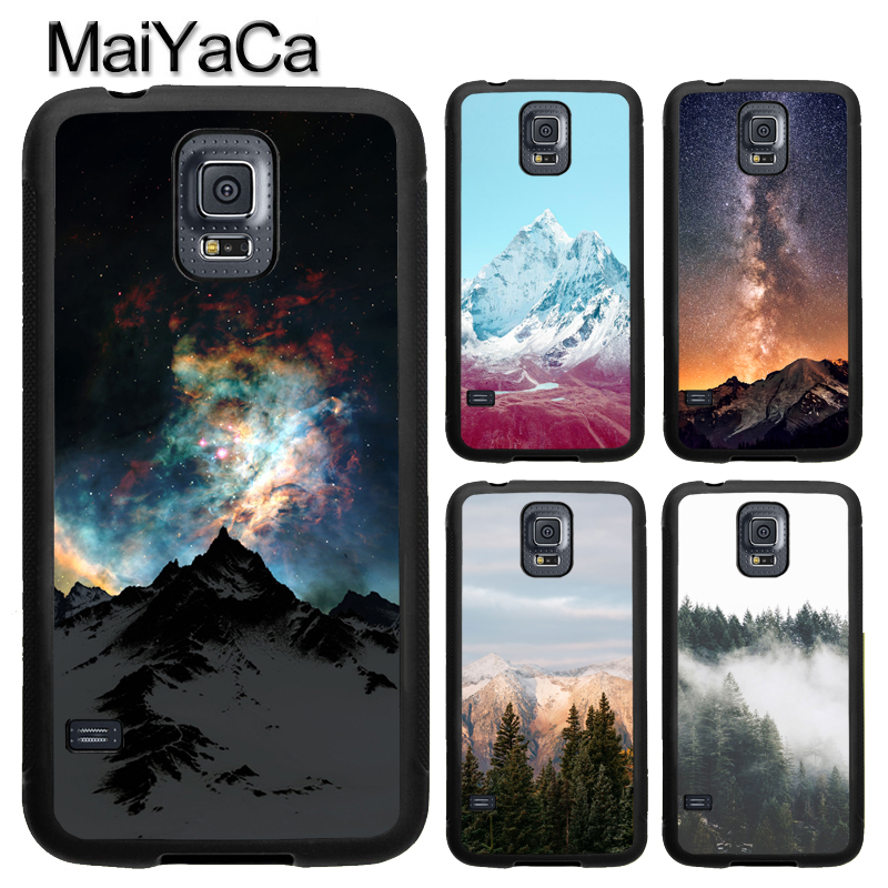MaiYaCa Beautiful Nature Forest Mountain For Samsung S7 S4 S5 S6 edge S9 S8 Plus Note 8 Note 4 Note 5 Phone Case Coque Protector