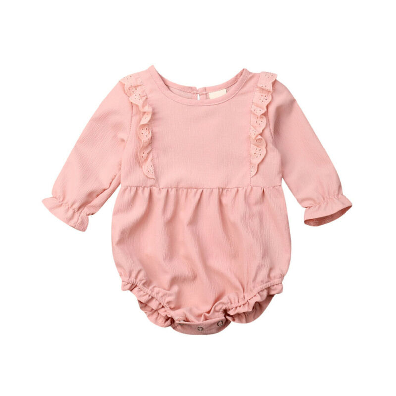 Autumn Baby Clothes 2019 Newborn Kid Baby Girl Clothes Long Sleeve Lace Bodysuits Jumpsuit Overall Outfit(China)