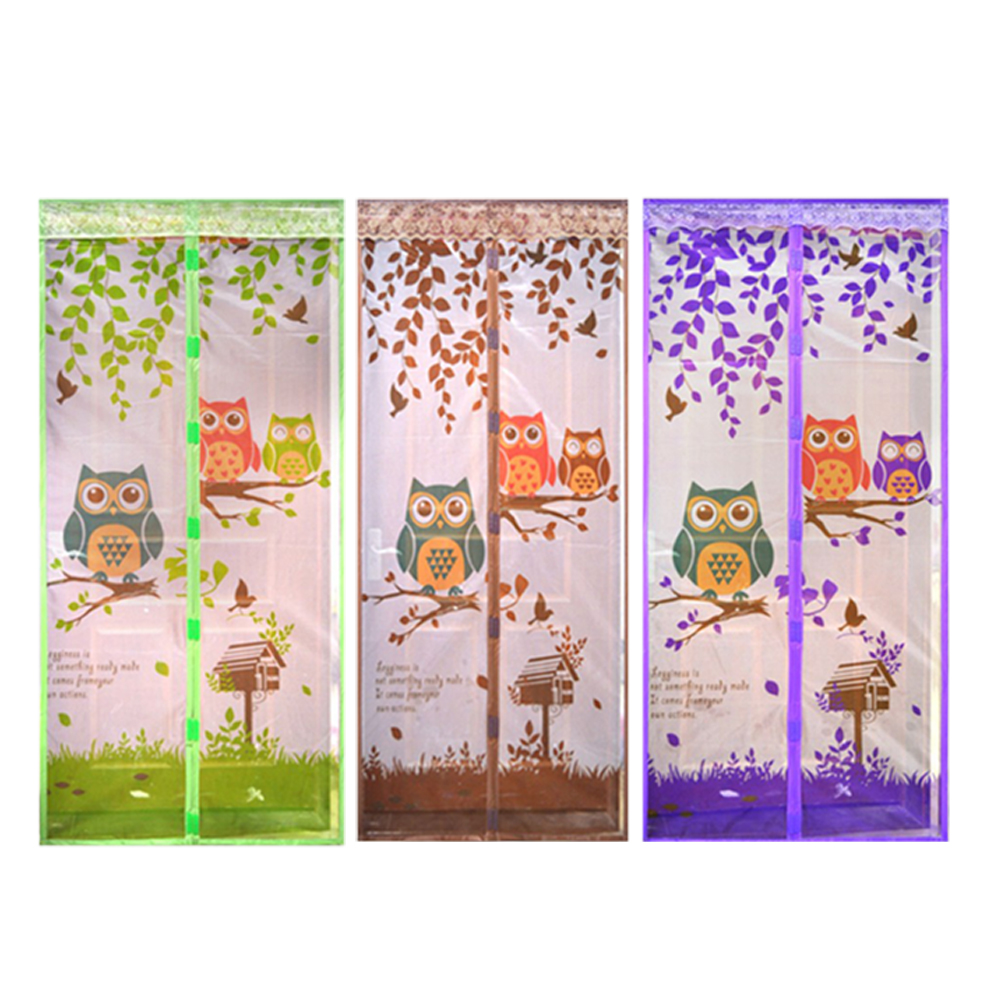 4 Color Curtain Durable Anti Mosquito Magnetic Tulle Door Curtain Automatic Closing Door Screen Summer Mesh Net 90/100*210cm20