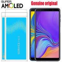 ORIGINAL 6,0 ''SUPER AMOLED für SAMSUNG Galaxy A7 2018 SM-A750F A750F A750 LCD Display Touchscreen Digitizer Montage