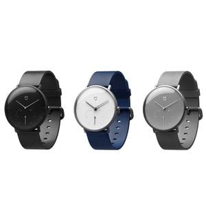 Image 5 - XIAOMI Mi Mijia QUARTZ Smart Watch Life Waterproof with Double Dials Alarm Sport Sensor Pedometer Time Leather Band Mi Home APP