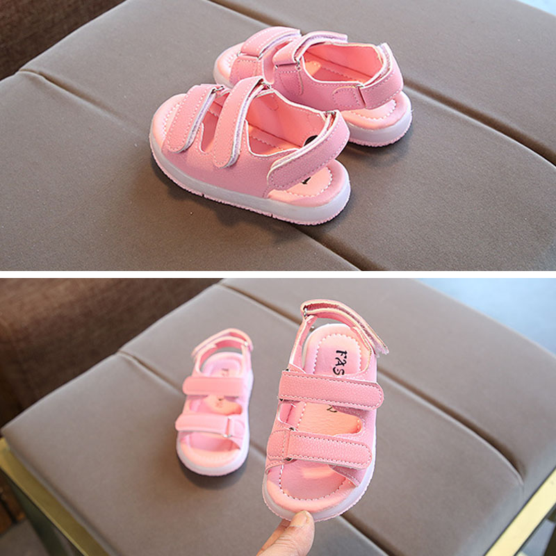 1 Pair Summer Kids LED Sandals Strappy Light Up Boys Girls Children Luminous Shoes YJS Dropship in Sandals from Mother Kids