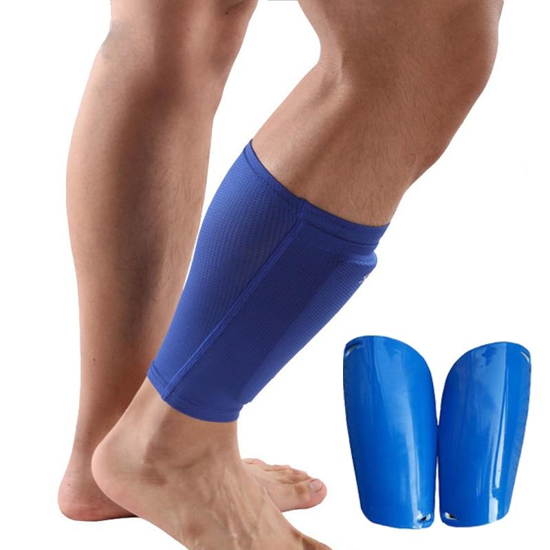 все цены на Football Shin Guards Calf Support Protection Soccer Shin Guards Goalkeeper Football Leg Sleeve Protective Pads Socks with shield