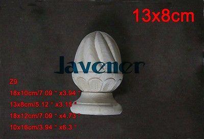 Z9 -13x8cm Wood Carved Onlay Applique Carpenter Decal Wood Working Carpenter Leg Flower