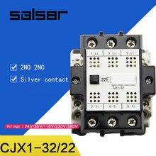 Comunicazione CJX1-32/22 3TB44 Contattori AC 2NO 2NC di Alimentazione Elettrica 380v 220v 110v 36v 24v Bobina del Motore