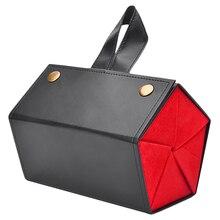 Vrouwen 5 Opslagruimte Zonnebril Tray Zwart Rood Mode Pu Leer Roll Brillen Case Display Box