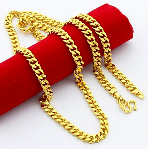 Trendy Hot Selling Cool Jewelry 24K Gold Link Chain Men And Women