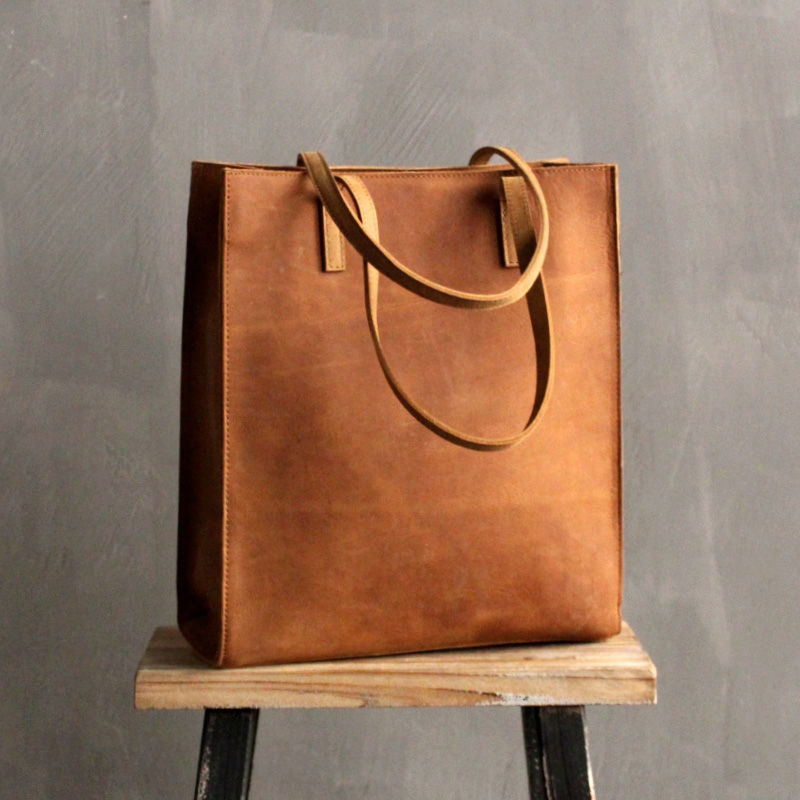 ladies genuine leather handbag Crazy Horse Leather Original Handmade Brand 100 Leather Bag Europe and America