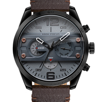 2018 Chronograph Men S Casual Sport Quartz Watch Mens Watches Top Brand Luxury Leather Strap Military