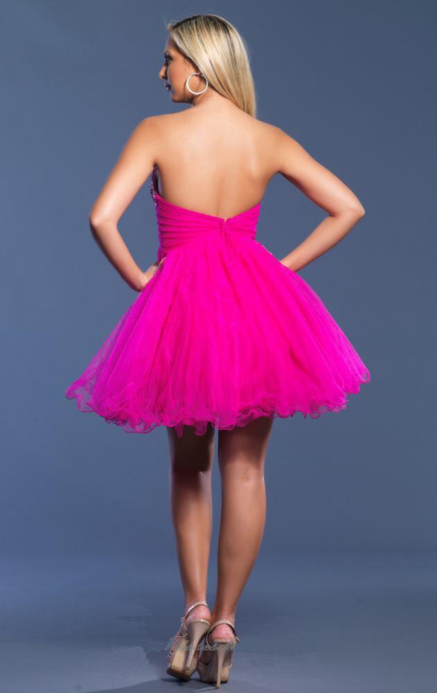 Custom Made 2016 fucsia vestido corto de baile plisado barato ...