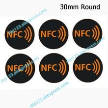 NFC מדבקות פרוטוקול ISO14443A 13.56MHz NTAG213/NTAG215/NTAG216 אוניברסלי תווית RFID תגים וכל NFC טלפון