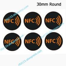 Naklejki NFC protokołu ISO14443A 13.56MHz NTAG213/NTAG215/NTAG216 uniwersalny etykiety zawieszki RFID i wszystkie NFC telefon