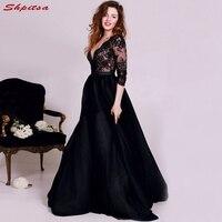 Черный с длинным рукавом мать невесты платья для свадьбы пикантные вечерние платья жениха крестная платья