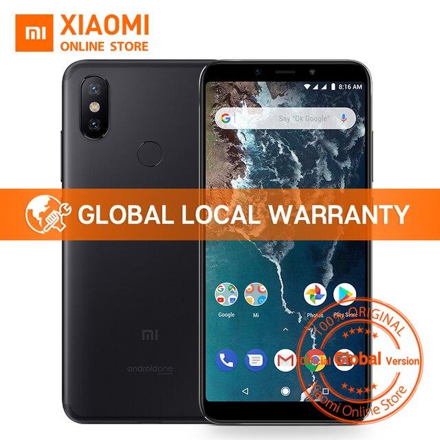 """Глобальная версия Xiaomi Mi A2 Snapdragon 660 Octa Core 4 ГБ 64 ГБ 5,99 """"18:9 полный Экран 20MP Фронтальная камера смартфон Android ОДИН"""