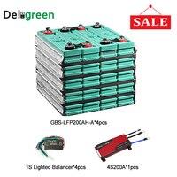 Литиевый эквалайзер батареи защищает перезаряжаемый 3,2 V Номинальный 12 V 200ah Солнечный литий ионный аккумулятор с 4S 200A bms pcm
