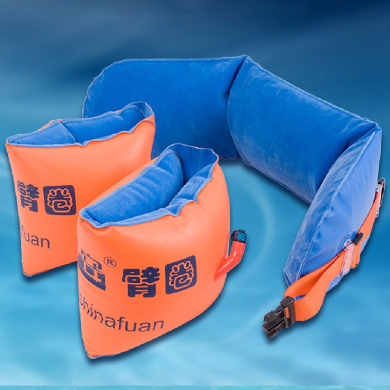 Life saving  Bags Inflatable Swimming Ring and Belts Double Air Bags Swim Floats Equipment Swimming Learning for Adults and Kids environmentally friendly pvc inflatable shell water floating row of a variety of swimming pearl shell swimming ring