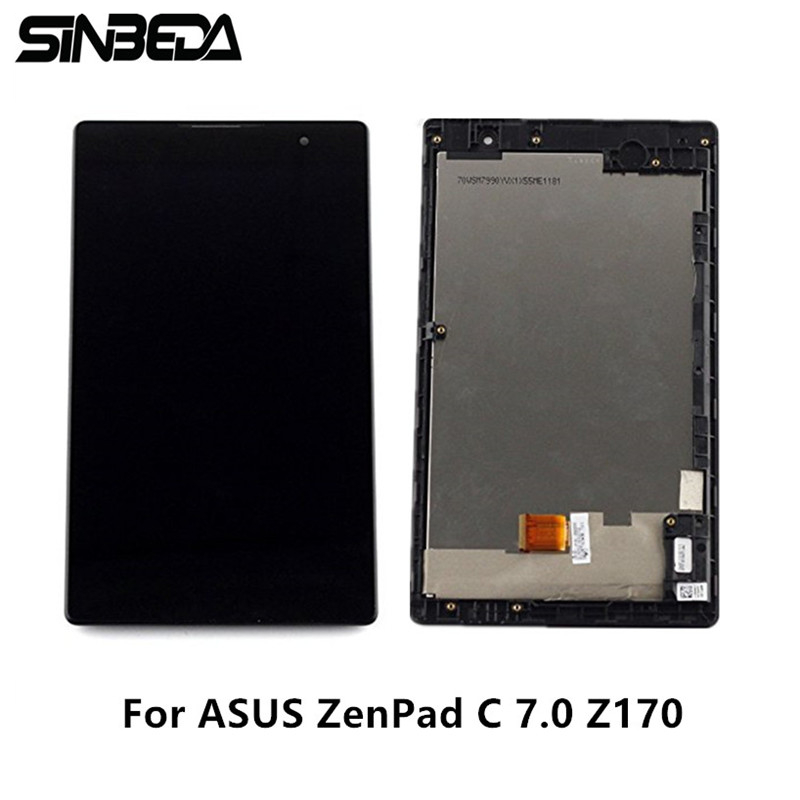 Sinbeda Original 7.0 LCD Screen Display For Asus ZenPad C 7.0 Z170 Z170CG Z170MG LCD Touch Screen Digitizer Assembly with Frame