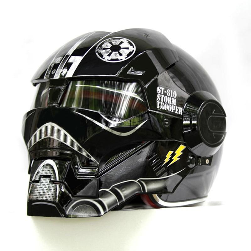 2018 NEW Black Star Wars MASEI IRONMAN Iron Man helmet motorcycle helmet half open face helmet 610 ABS casque motocross