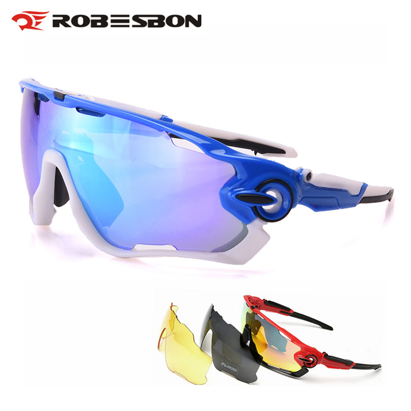 ROBESBON Polarized Cycling Sunglasses Outdoor Sports MTB Road Bicycle Bike Glasses TR90 Goggles Eyewear 3 Lens Oculos Ciclismo