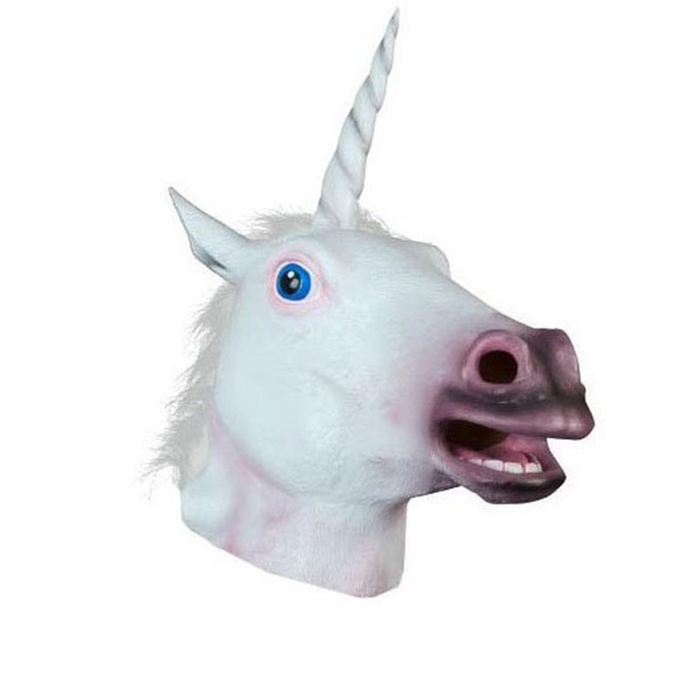 Latex Horse Head Mask Halloween Cosplay Costume Party Prop Novelty Creepy Masks Supplies ...