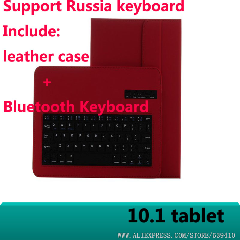 Bluetooth Keyboard with Leather Case cover For CHUWI HiBook Pro / for Cube iwork 10 Bluetooth keyboard tablet case cube iwork10 tablet magnetic docking keyboard with foldable stand case black