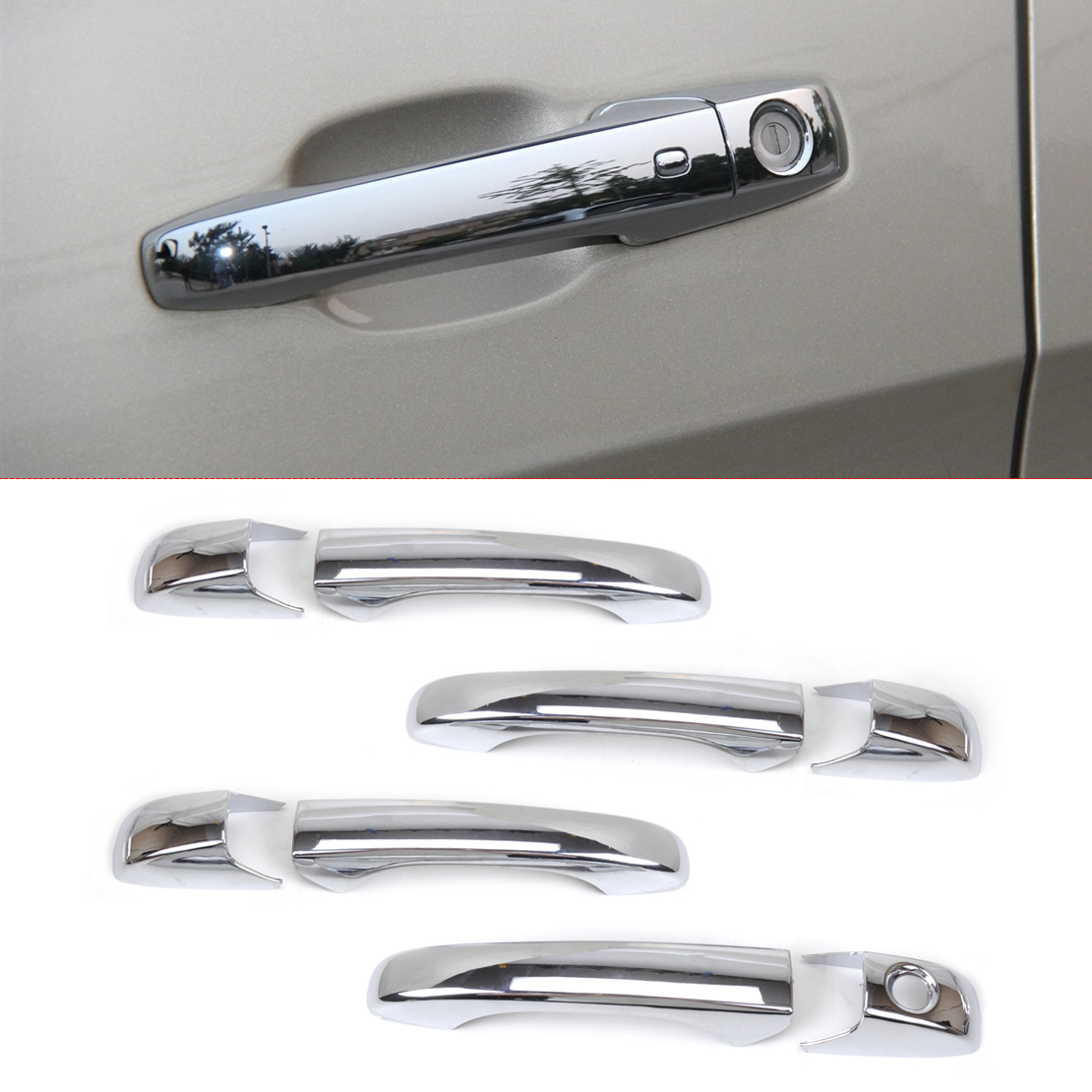 New Chrome Door Handle Cover Trim for Dodge <font><b>Grand</b></font> Caravan Chrysler Town & Country 300/300C <font><b>Jeep</b></font> <font><b>Grand</b></font> Cherokee Compass