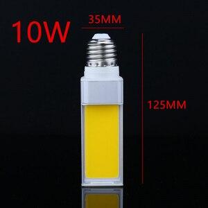Image 3 - 1 Cái/lốc Ngang Cắm Đèn LED 10W 12W 15W COB LED E27 G24 G23 COB Ngô ánh Sáng Đèn Trắng Ấm AC85V 265V Mặt Chiếu Sáng