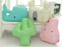 3D Anime Manga INS Cactus Whale Pearl PU Pillow Cushion Doll Decorative Pillows Seat Bedding Cushion