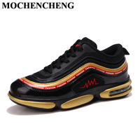 New Casual Shoes Men Lace up Sneakers with Air Shock Cushion Breathable Mesh Non slip Hard wearing High Quality Leisure Shoes