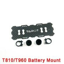 Tarot-rc zangão original acessórios diy tarô 810 t810 960 t960 t15 t18 peças do quadro 12mm de fibra de carbono tarô montagem da bateria