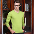 Male pure sweater spring and autumn thin V V-neck collar sweater pullover basic shirt sweetheart neckline sweater