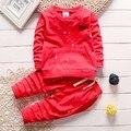 0-3Y новый 2016 осенью ребенок мальчик краска точка футболка + брюки одежда наборы 2 шт. мальчики весна осень одежда набор