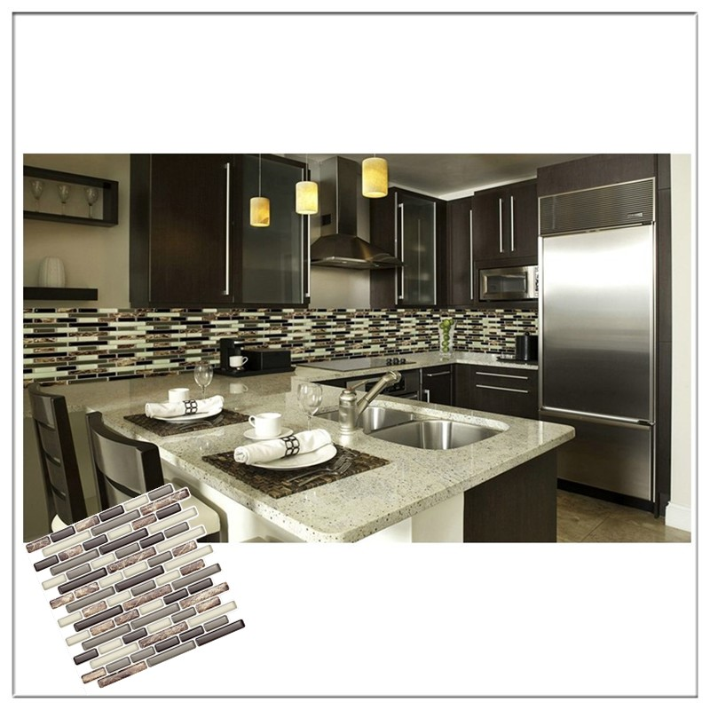 "Best X10 Peel N And Stick Backsplash Tile For Kitchen: Peel And Stick Self Adhesive Mosaic Tile 10""x10"