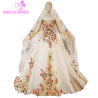 Formal Evening Gowns Dresses Lace Up Back Short Sleeves With Cape Shawl Long Beaded Lace Ball Gown Long Evening Dresses