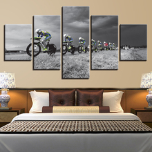 Canvas Framework HD Printed Modern Living Room Painting 5 Panel Cycling Race Wall Art Poster Home Decoration Modular Pictures