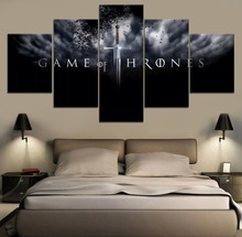 Game of thrones Movie HD Print Painting Modern Decorative Home Decor 5 Piece Paintings Canvas Wall Room Artwork