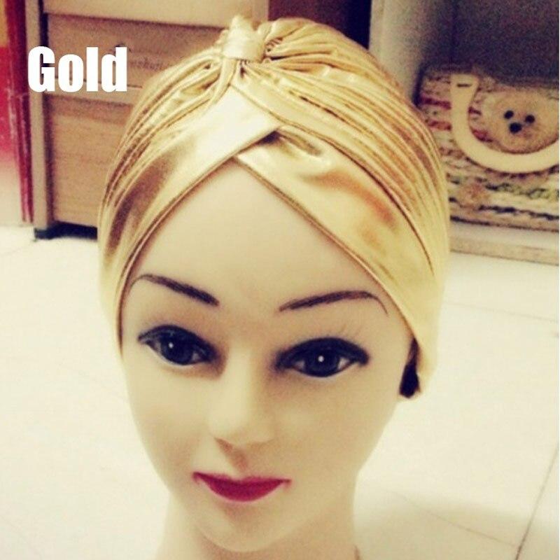 Fashion Leopard Gold Turban Chemo Hair Head Wrap Yoga Cap Bath Cap New -MX8