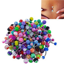 3 Pc Colorful Sexy Belly Bar Body Piercing Anello del Tasto Dell'ombelico Bilanciere Jewerly Lip Piercing Unisex Gioelleria raffinata e alla moda(China)