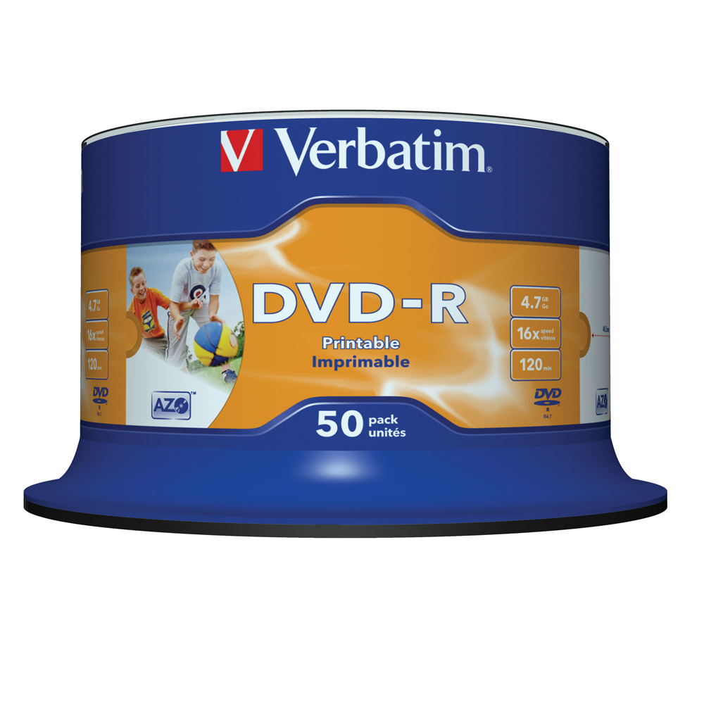 Verbatim dvd rw 4 7gb 4x with branded surface 30pk spindle 4 7gb - Verbatim Dvd R 4 7gb 16x 50pk Spindle White Inkjet Printable Recordable Media Disc Blank Compare Prices On Recordable Compact Disc Online Shopping Buy Low