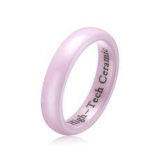 Envío gratis 4 mm alta rosa pulido anillo de cerámica, boda / anillo de compromiso Band para para WCE003R