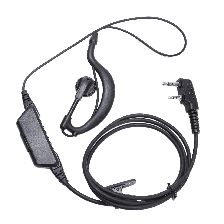 2-PIN PTT Earpiece Headset for Kenwood Puxing WEIERWEI Wouxun Baofeng Radio HOT