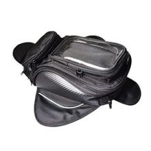 Мотоциклетная сумка на бак, масло, топливо, магнит для сумки, мотобайкер, Оксфорд, водонепроницаемый, gps, седельная сумка, сумка на бак, багаж, большая зона обзора