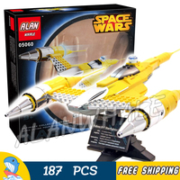 187pcs Space Wars Ultimate Collectors Naboo Starfighter Chrome Element 05060 Model Building Blocks Toy Compatible With LegoING