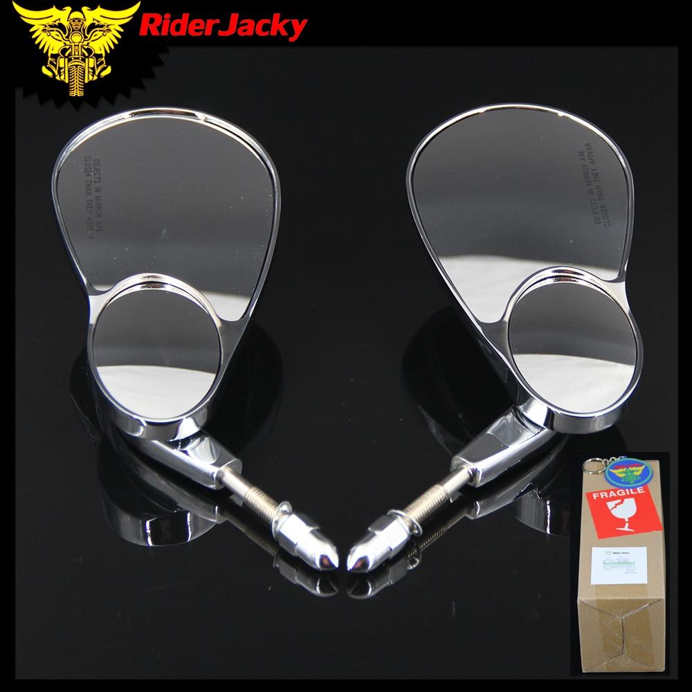 RiderJacky 8mm CNC Moto Arrière rétroviseurs Rétroviseur Côté Miroir Pour Harley Dyna Touring Road King Classique XL 883 sportster